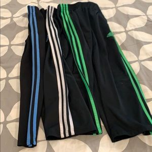 Bundle of all 3 boys adidas track pants joggers